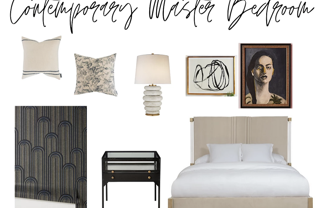 Contemporary Master Bedroom, Styled Two Ways